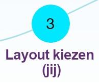 Kies één van de honderden layouts, pas het naar wens aan, of maak je eigen layout